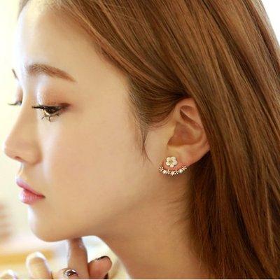 新款飾品貝殼花韓國氣質耳釘小雛菊花朵個性耳飾甜美百搭款耳環日韓飾品女