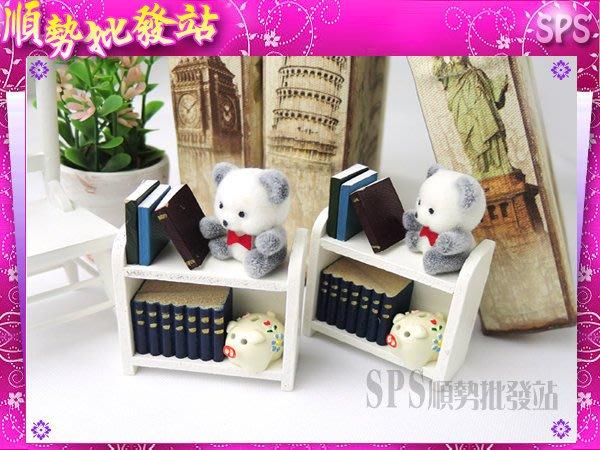 【順勢批發站】仿真模型-小熊書架+小豬存錢筒造型磁鐵,熊寶貝 台灣MIT製造