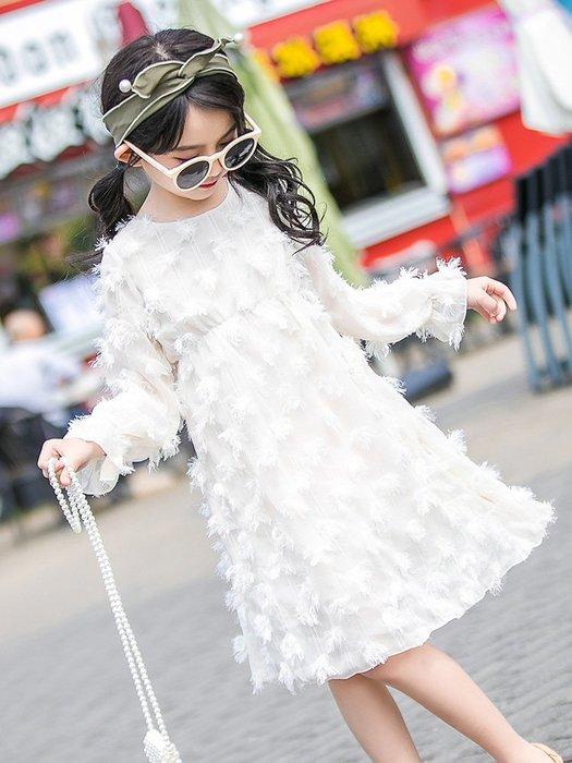 『媽咪貝貝』女童連衣裙春裝2019新款中大童韓版兒童裙子春秋小女孩公主裙洋氣