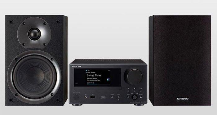 高傳真音響【CS-N575】藍芽+CD+USB 網路床頭音響組│完美低音高音表現│FM廣播電台 ONKYO