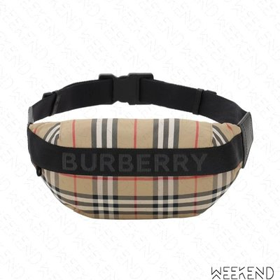 【WEEKEND】 BURBERRY Check 格紋 胸口包 肩背包 腰包 19秋冬