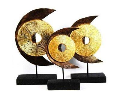 INPHIC-東南亞 家居飾品 泰國風格 擺飾 工藝品 月亮 三件套