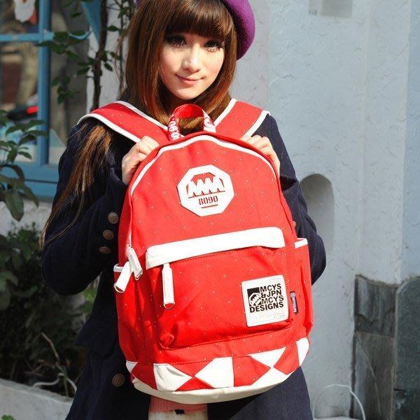 5Cgo 【鴿樓】會員優惠 21444908369 女式韓版潮雙肩包背包 男士學生學院書包帆布旅行包