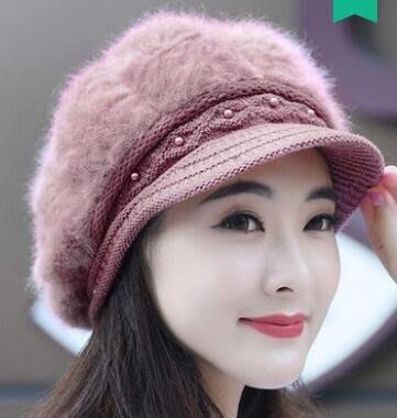 兔毛帽子女秋冬季時尚潮韓版2018新款可愛百搭保暖冬天針織毛線帽