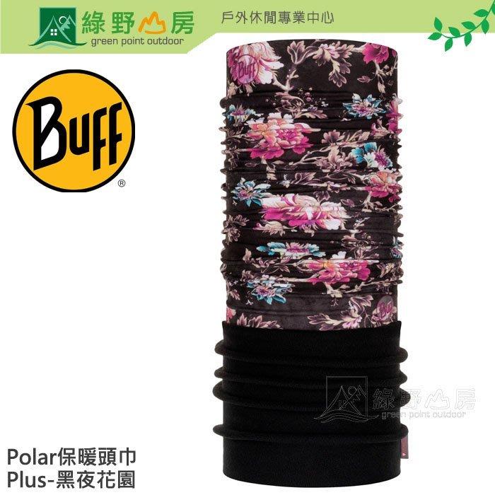 綠野山房》Buff 西班牙 黑夜花園 Polar Plus刷毛保暖頭巾 魔術頭巾 單車 脖圍 圍巾 BF120910