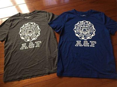 AF Abercrombie & Fitch 男童 11-12yrs  短袖經典logo T-shirt 灰色 藍色 台南市