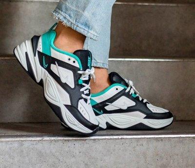 Nike Monarch M2K Tekno 復古 老爹鞋 皮革 黑白綠 湖水綠 厚底 增高 男女鞋AO3108-102