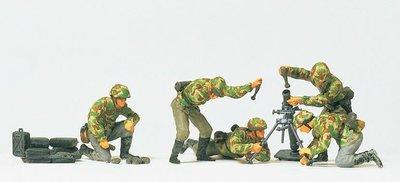傑仲 (有發票) 博蘭 Preiser 人物組 8 CM trench mortar 16541 HO