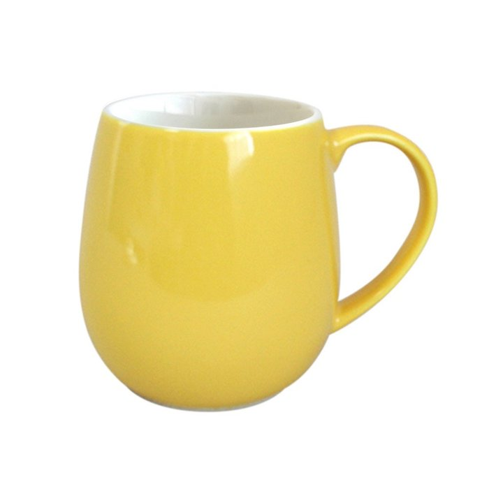 日本Origami barrel aroma摺紙咖啡馬克杯(320ml)-蛋黃色
