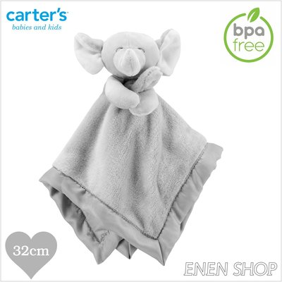 『Enen Shop』@Carters 可愛大象款baby安撫毛巾 #67674|one size 新生兒/彌月禮