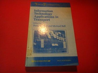 【愛悅二手書坊 03-33】Information technology Applications in transpo