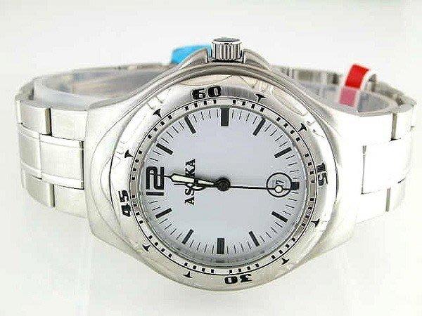 @(六四三鐘錶精品店)@@ASOKA(真品)手錶..全不袗錶殼及錶帶.不退色不過敏.