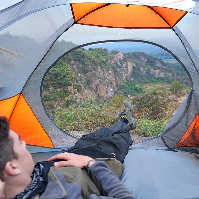 奇奇店-帳篷戶外2人情侶野外野營單人雙人雙層加厚防暴雨露營防雨#方便 #快捷 #實用