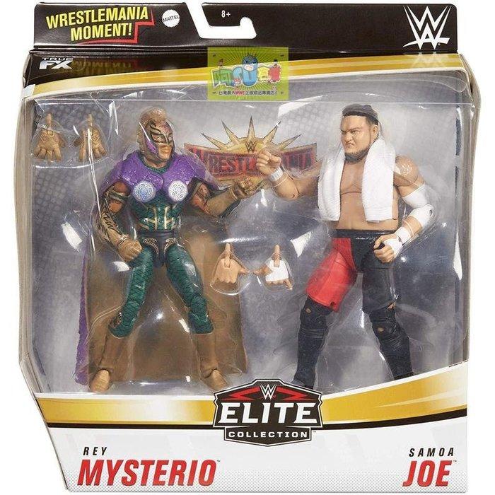 ☆阿Su倉庫☆WWE Rey Mysterio Vs Samoa Joe Elite Figures 精華版雙人組人偶
