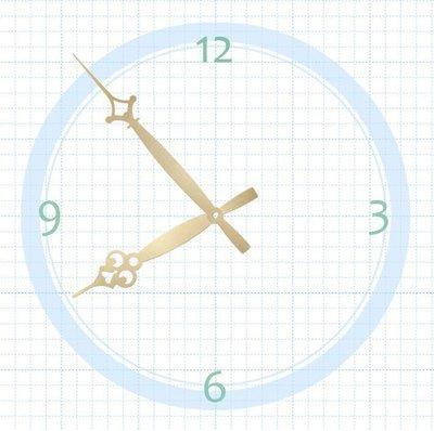 【鐘點站】T140106G SUN機芯專用 金色造型花針 / 分針14.0公分時針10.6公分/ DIY 時鐘 掛鐘 鐘針金色/SUN機芯專用