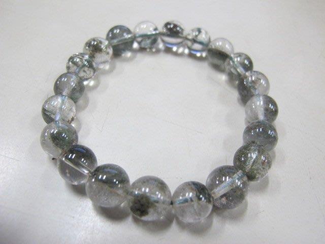 二手舖 NO.3349 天然水晶 綠水晶 綠幽靈 手鍊 手珠 串珠 首飾飾品