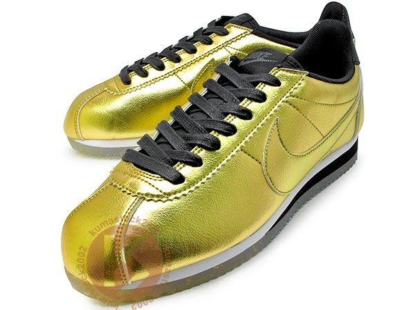 NIKE WMNS CLASSIC CORTEZ LEATHER SE 女鞋 金色 金黑 阿甘 902854-700