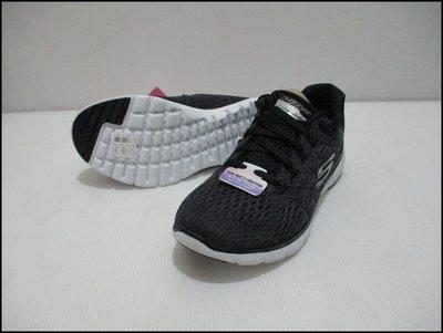 【喬治城】SKECHEAS FLEX APPEAL3.0  運動慢跑鞋 透氣 黑色 13064BKW