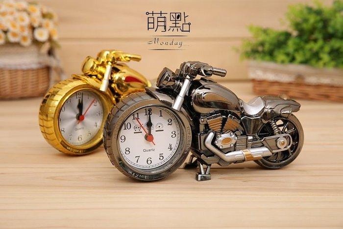 萌點 機車造型鬧鐘 鬧鈴 時鐘 檔車 重機 機車 造型擺件 裝飾 手錶 定時【000025】