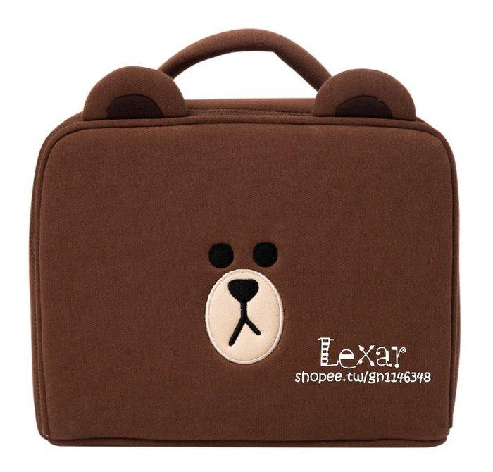 line布朗熊手提包多功能收納包化妝包大小號高品質國內定制款