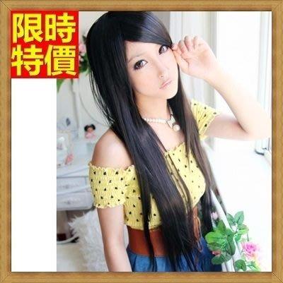 長假髮 女整頂假髮-直長髮時尚氣質斜瀏海女美髮用品3色69o53[獨家進口][米蘭精品]