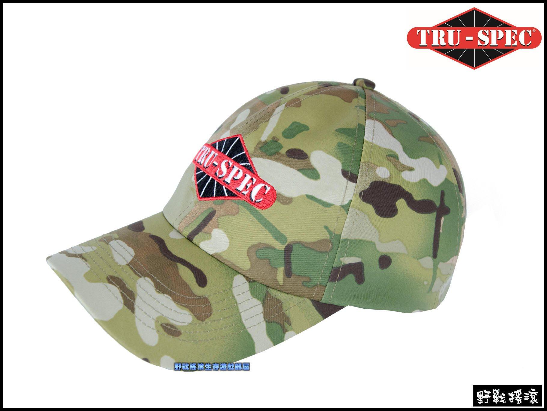 【野戰搖滾-生存遊戲】美國 TRU-SPEC LOGO戰術棒球帽【MultiCam】多地形迷彩小帽CP迷彩帽軍帽