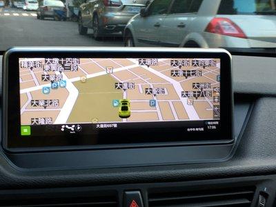 台中 巨博 專業汽車影音安卓版 BMW X1 X2 f48 f39 f15 觸控螢幕  加導航 USB 倒車 5系 主機
