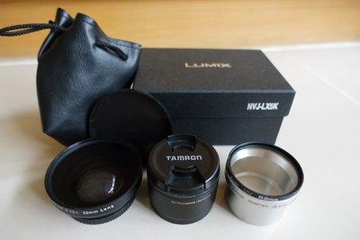 三顆鏡頭/濾鏡Panasonic Lumix LX5 52mm /Canon / Nippon Kawasaki廣角