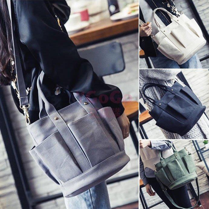 韓版休閒水桶包 單肩包 斜肩包 手提包 包包