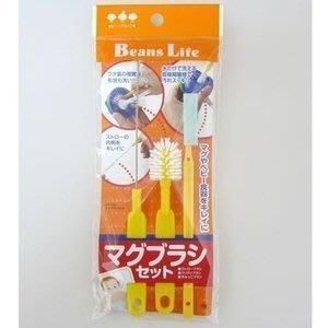 日本製 多功能清潔刷三入組 - 內含:吸管刷、奶嘴刷、水杯奶瓶刷