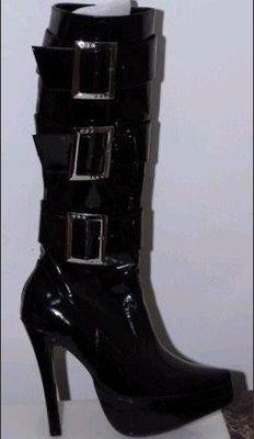 """馬靴 尖頭馬靴 舞臺鞋 """"西西莉亞""""新款中靴  樂隊造型鞋 可定制別色! 貨號:D151款"""