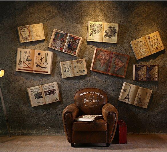 『格倫雅』美式復古書吧壁掛奶茶服裝店酒吧吧臺墻上軟裝飾品咖啡店墻面掛件^17742