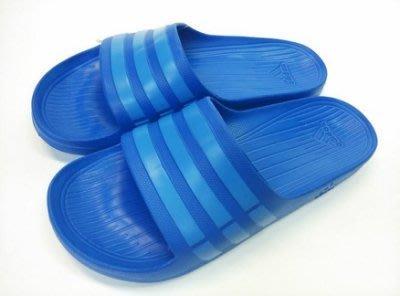 【豬豬老闆】ADIDAS 基本款運動拖鞋 DURAMO SLIDE 水藍色 防水 男女 B44297