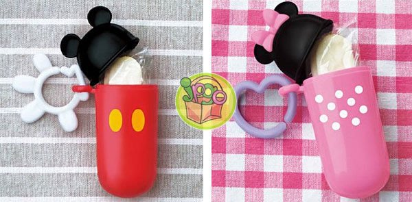 【JPGO】出清~日本製 迪士尼 長條形餅乾盒 零食盒 零食收納盒 附掛勾~米奇#719/米妮#419
