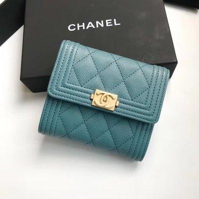 Chanel 香奈兒 短夾 (下單后可提供實拍視頻)最愛的就是這一種幽藍~ 炒雞喜歡