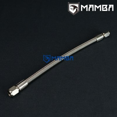 "-4 AN 1/4"" Stainless Steel hose PTFE Str-Str 150cm Fuel Oil"