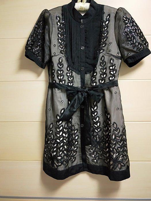 丹丹衣坊--歐式典雅黑色歐根紗小禮服