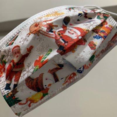 [韓娜]❄️聖誕老公公?限量款聖誕趴4片ㄧ組交換禮物?平面成人口罩ㄧ次性拋棄式非醫有光澤質感❤️ (搜尋?韓娜口罩)更多絕美中絕版款等您來收藏