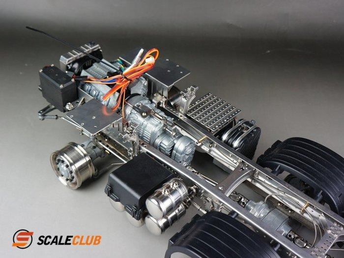 【喵喵模型坊】SCALECLUB 1/14 SCANIA / BENZ 8X8 重型拖頭底盤組 (DP-TY-88)