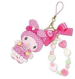 *凱西小舖*日本進口三麗歐正版MELODY美樂蒂點點系列玩偶手機吊飾