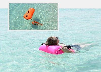 三層充氣防水袋 浮潛游泳包漂流袋沙灘收納防水包戶外游泳裝備