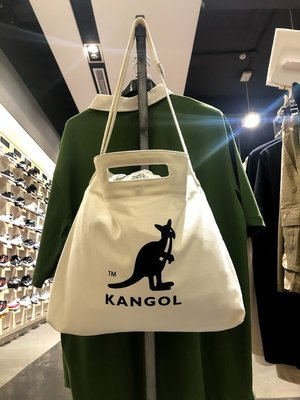 KANGOL 英國袋鼠 帆布 米色 米...