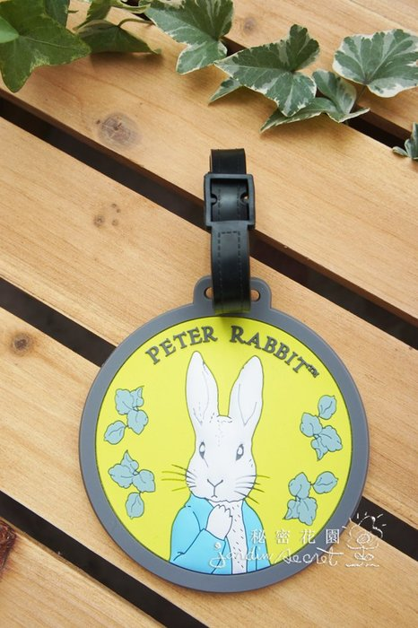 行李吊牌--Peter Rabbit彼得兔行李吊牌/行李掛牌/識別證--秘密花園