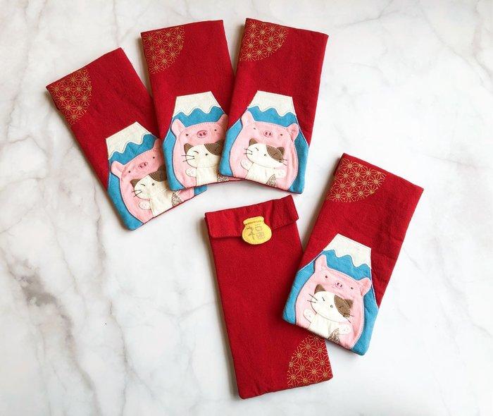 日本卡拉貓~日式Gon醬粉紅小豬紅包袋