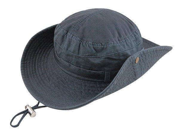 【二鹿帽飾】Sinds / 布水洗牛仔漁夫帽/ 男女款式/皮帶款-鐵灰色 /登山專用帽.賞鳥帽