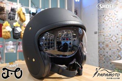 【趴趴騎士】SHOEI JO 安全帽 消光黑色 (CB1100 GOGORO R9T VESPA 復古帽