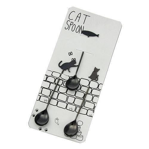 現貨 ◎日本直送◎ 日本製 貓咪&魚3件組 茶匙/湯匙/點心匙/咖啡匙/蛋糕匙