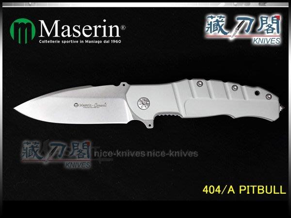 《藏刀閣》Maserin-(Pitbull)比特犬軍事戰術刀(白柄)