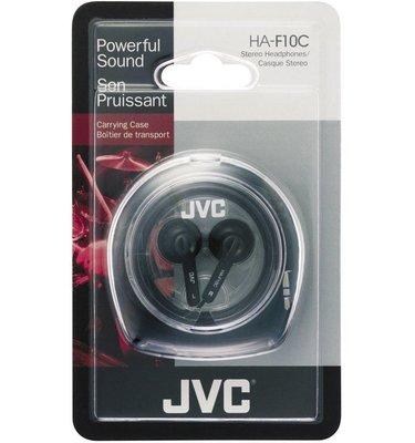 【露西小舖】JVC HA-F10C立體聲耳塞式耳機(黑色,附收納盒)