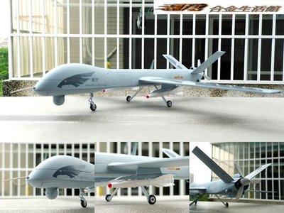 【精緻 全合金戰機】1/26 大比例 中國 「翼龍」無人機 ~機身長37CM,全新品,現貨特惠價!~